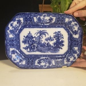 Other - Antique Flow Blue Ironstone platter/dish